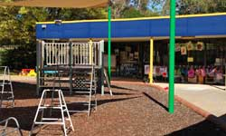 Photograph: Preschool play area and outside classrooms