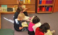 Photograph: Preschool children reading