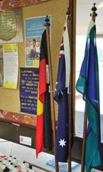 Photograph: Koori Preschool flag display