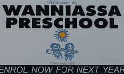Photograph: Preschool enrolment sign