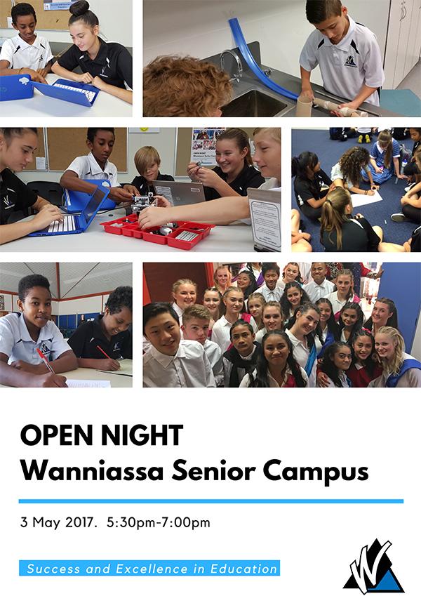 Open night on Wednesday 3