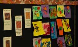 Photograph: Koori Preschool artwork display