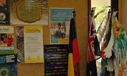 Photograph: Koori Preschool Display board with flags