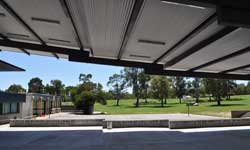 Photograph: Covered outdoor learning area