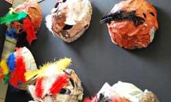 Photograph: Koori Preschool mask display