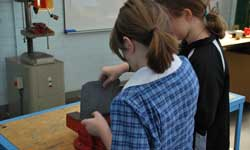 Photograph: Senior Campus students doing metalwork